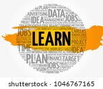 learn word cloud collage ...   Shutterstock .eps vector #1046767165