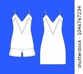 clothes. women's homewear.... | Shutterstock . vector #1046767234