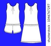 clothes. women's homewear.... | Shutterstock . vector #1046767297