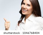 portrait of happy smiling young ... | Shutterstock . vector #1046768404