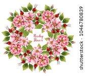 rosehip flowers  watercolor...   Shutterstock . vector #1046780839