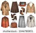watercolor fashion illustration....   Shutterstock . vector #1046780851