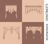 . lambrequin.classic curtains . ... | Shutterstock . vector #1046786371