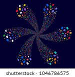multicolored baht cyclonic...   Shutterstock .eps vector #1046786575