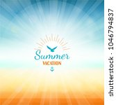 summer vacation holidays beach... | Shutterstock .eps vector #1046794837