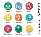social responsibility outline... | Shutterstock .eps vector #1046795137