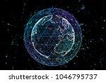 earth  representing global... | Shutterstock . vector #1046795737