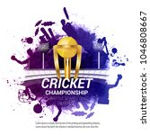 cricket championship concept... | Shutterstock .eps vector #1046808667