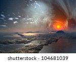 alien planet with mystic sky   Shutterstock . vector #104681039