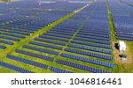 never ending solar energy farm... | Shutterstock . vector #1046816461