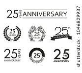 25 years anniversary icon set.... | Shutterstock .eps vector #1046829937