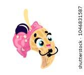 vector funny ice cream  cartoon ...   Shutterstock .eps vector #1046831587