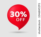sale special offer 30  off... | Shutterstock .eps vector #1046845291