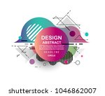 colorful abstract design.... | Shutterstock .eps vector #1046862007