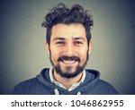 young hipster man in gray...   Shutterstock . vector #1046862955