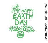 happy earth day 2018. april 22. ... | Shutterstock .eps vector #1046863759