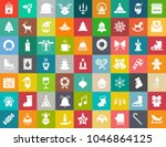 vector christmas icons set ... | Shutterstock .eps vector #1046864125