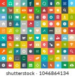 web icons set  communication... | Shutterstock .eps vector #1046864134