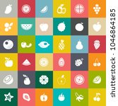 fruits icons set | Shutterstock .eps vector #1046864185