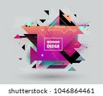 colorful abstract design.... | Shutterstock .eps vector #1046864461