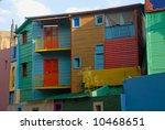 colorful homes in la boca  ... | Shutterstock . vector #10468651
