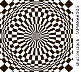 optical illusion  black and...   Shutterstock .eps vector #1046866105