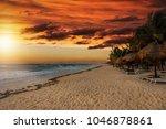 Golden Sunset Over The Beach O...