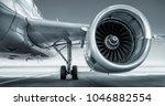 jet engine of an modern airliner | Shutterstock . vector #1046882554