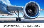 jet engine of an modern airliner   Shutterstock . vector #1046882557