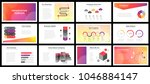 business presentation templates.... | Shutterstock .eps vector #1046884147