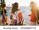 picture of a group of youthful... | Shutterstock . vector #1046884774