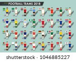 soccer cup teams 2018 . set of... | Shutterstock .eps vector #1046885227