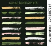 modern watercolor daubs set ... | Shutterstock .eps vector #1046887369