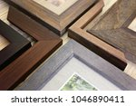 a collection of solid wood... | Shutterstock . vector #1046890411