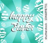 vector card with eggs. happy... | Shutterstock .eps vector #1046898751