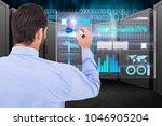 digital composite of data... | Shutterstock . vector #1046905204