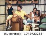 family with two children having ...   Shutterstock . vector #1046923255