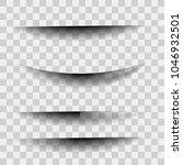 transparent shadow separator... | Shutterstock .eps vector #1046932501