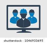 online engineer team icon. male ...   Shutterstock .eps vector #1046933695