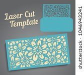 lasercut vector wedding... | Shutterstock .eps vector #1046943241