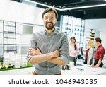 attractive young freelancer ...   Shutterstock . vector #1046943535