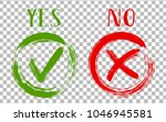 yes and no acceptance and... | Shutterstock .eps vector #1046945581