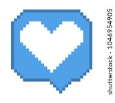 vector pixel 8 bit blue bubble... | Shutterstock .eps vector #1046954905