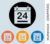calendar round icon  glyph for...