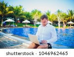working on laptop from the...   Shutterstock . vector #1046962465