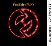 red neon funfair  fun ... | Shutterstock .eps vector #1046964631
