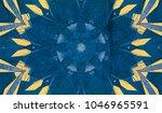 blue kaleidoscope patterns.... | Shutterstock . vector #1046965591