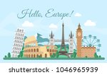 vector illustration welcome... | Shutterstock .eps vector #1046965939