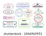 vector illustration set of... | Shutterstock .eps vector #1046965951