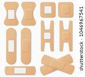 medical adhesive bandage... | Shutterstock .eps vector #1046967541